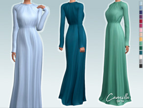 Sims 4 — Camilla Dress by Sifix2 — - New mesh - 15 swatches - Base game compatible - HQ mod compatible - Teen - Young