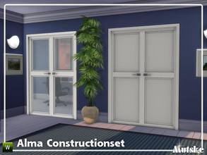 Sims 4 — Alma Constructionset Part 9 by Mutske — This is ninth part of the Alma Construction. With arches and doors. Make
