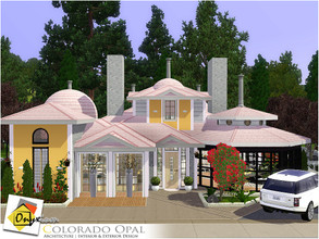 Sims 3 — Colorado Opal by Onyxium — On the first floor: Living Room | Dining Room | Kitchen | Two Bathrooms | Empty