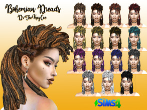 Sims 4 — Bohemian Dreads - Base Compatible by drteekaycee — With hot weather in mind, this Bohemian Dread hairstyle is