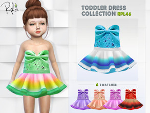 Sims 4 — Toddler Dress Collection RPL46 by RobertaPLobo — :: Toddler Dress :: 6 swatches :: New Mesh :: All lods :: Base