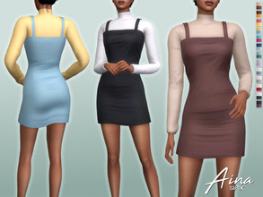 Sims 4 — Aina Outfit by Sifix2 — - New mesh - 13 swatches - Base game compatible - HQ mod compatible - Teen - Young Adult