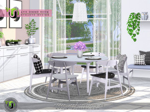 Sims 4 — Avis Dining Room by NynaeveDesign — Entertain your sims family and friends with this stylish dining set everyone