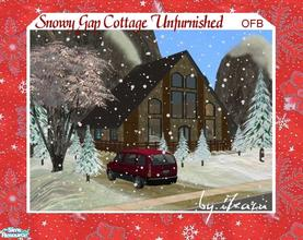 Sims 2 — Snowy Gap Cottage Unfurnished by iZazu — *OFB & Unfurnished* Retreat in the Mountains has a Loft Bedroom