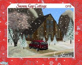 Sims 2 — Snowy Gap Cottage by iZazu — *OFB* Retreat in the Mountains has a Loft Bedroom & Bath. Main Fl. has