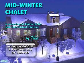 Sims 2 — Mid-Winter Chalet by Tiko —