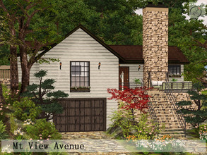 Sims 3 — Mt View Avenue by timi722 — Cozy and enchanting cottage with stone fireplace, and landscaped garden.