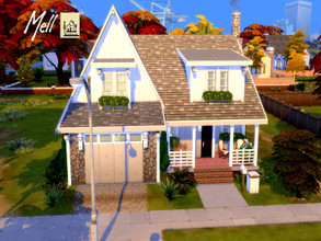 Sims 4 — Mell by GenkaiHaretsu — A small modern house in the suburbs.
