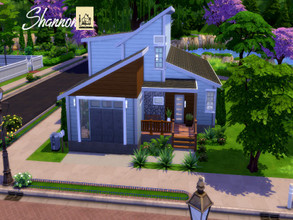 "Sims 4 — Shannon by GenkaiHaretsu — Cozy modern ""small"" house with 6 bedrooms."