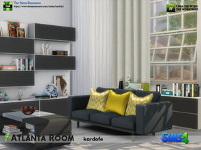 Sims 4 — kardofe_Atlanta Room by kardofe — Fourteen new meshes to recreate a modern style room, with fresh and current