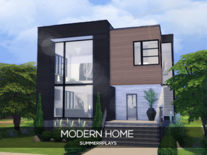 Sims 4 — Modern Home by Summerr_Plays — This modern home is located in Newcrest and it a cozy home for your sims. It has