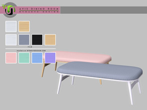 Sims 4 — Avis Bench by NynaeveDesign — Avis Dining Room Decor - Bench Found under: Comfort - Miscellaneous Price: 183