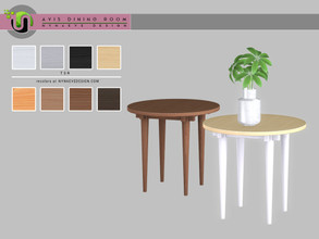 Sims 4 — Avis Sidetable by NynaeveDesign — Avis Dining Room Decor - Sidetable Found under: Surfaces - Miscellaneous