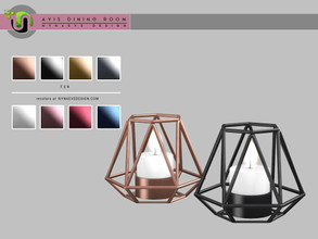 Sims 4 — Avis Candle by NynaeveDesign — Avis Dining Room Decor - Candle Found under: Lighting - Table Lamp Price: 183