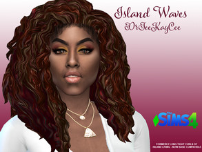 Sims 4 — Island Waves - Base Compatible by drteekaycee — Island living long tight curls is now available to all sims as