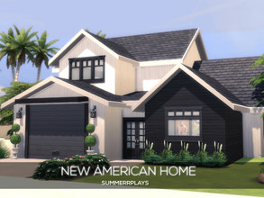 Sims 4 — New American Home by Summerr_Plays — A lovely family home in Oasis Springs. Located near a beautiful lake this