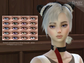 Sims 4 — DaisySims realistic Eye G02 by Daisy-Sims — Realistic eyes 20 colors HQ compatible contact lens in Face Paint