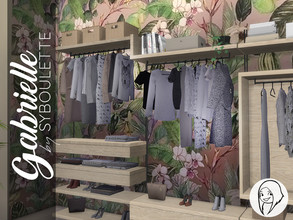 Sims 4 — Gabrielle Dressing Closet by Syboubou — This set offers a modular wardrobe closet with 4 different parts that