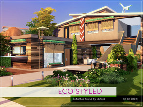 Sims 4 — Eco Styled by Lhonna — Comfy suburban house for a family (2+2). No CC! Price: 131 750 Size: 30 x 20 Room list: