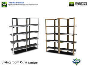 Sims 3 — kardofe_Living room Odin_Shelving by kardofe — Original shelving, formed by the frame of a screen and tables