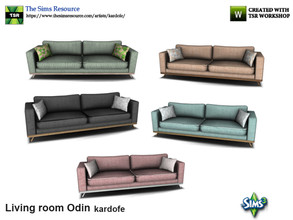 Sims 3 — kardofe_Living room Odin_Sofa by kardofe — Nordic style sofa from the 50's