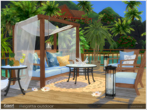 Sims 4 — Regatta outdoor by Severinka_ — A set of furniture and decor for decorating the beach / gazebo / terrace in a