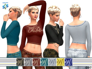 Sims 4 — Top 202006_09 by Dgandy — Base game item Tops: Everyday Athletic Party 7 colors