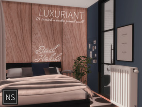 Sims 4 — Networksims - Luxuriant Walls by networksims — A wood-panelled wall in 15 colour swatches (6 brown and 9