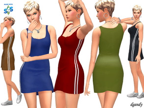 Sims 4 — Dress 202006_10 by Dgandy — Base game item Outfits: Everyday 5 colors