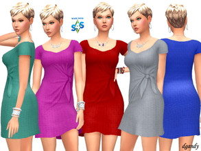 Sims 4 — Dress 202006_11 by Dgandy — Base game item Outfits: Everyday Party 5 colors