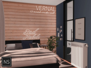Sims 4 — Networksims - Vernal Walls by networksims — Wooden plank walls in 12 colour swatches (2 pale brown, 10