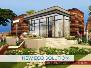 Sims 4 — New Eco Solution by Lhonna — Modern, comfy house for an artist or freelancer. The lot is furnished, landscaped,