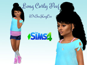 Sims 4 — Long Curly Poof - Base Compatible by drteekaycee — This long wavy luscious mass of a hairstyle if for the