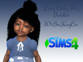 Sims 4 — Long Curly Poof - Toddler: Base Compatible by drteekaycee — Your little sim wants to look like her big sister