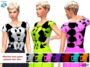 Sims 4 — Blouse 202006_12 by Dgandy — Base game item Tops: Everyday Athletic Sleepwear 7 colors