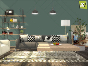 Sims 4 — Ullery Living Room by ArtVitalex — - Ullery Living Room - ArtVitalex@TSR, Jun 2020 - All objects three has a