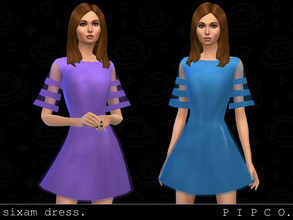 Sims 4 — pipco - sixam dress. by Pipco — a stylish, futuristic dress.
