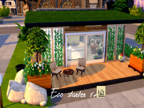 Sims 4 — Eco starter v2 by GenkaiHaretsu — Hello! Today I present the second of many eco homes with a new addition. It is