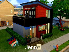 Sims 4 — Jenn |eco by GenkaiHaretsu — Hello! Today I present another of many eco homes with a new addition. Only base
