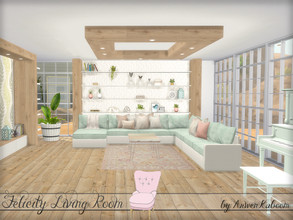 Sims 4 — Felicity Living Room by ArwenKaboom — A living room set for your simmies, as always inspired by Scandinavian