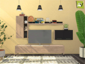 Sims 4 — Celestia Living Room TV Units by ArtVitalex — - Celestia Living Room TV Units - ArtVitalex@TSR, Jun 2020 - All