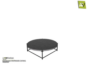 Sims 3 — Graeagle Roung Coffee Table by ArtVitalex — - Graeagle Roung Coffee Table - ArtVitalex@TSR, Jun 2020