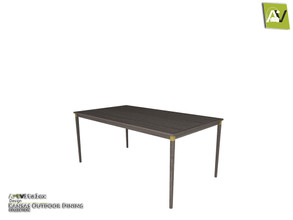 Sims 3 — Kansas Dining Table by ArtVitalex — - Kansas Dining Table - ArtVitalex@TSR, Jun 2020