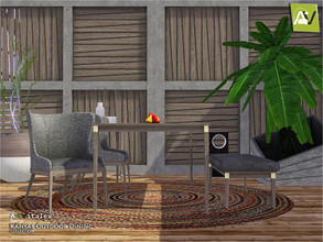 Sims 3 — Kansas Outdoor Dining by ArtVitalex — - Kansas Outdoor Dining - ArtVitalex@TSR, Jun 2020 - All objects are