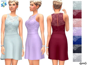 Sims 4 — Dress 202006_16 by Dgandy — Base game item Outfits: Formal Party 7 colors