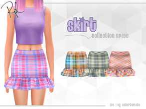 Sims 4 — Skirt Collection RPL80 by RobertaPLobo — :: Skirt :: 4 swatches :: New Mesh :: All lods :: Age: Adult (Female)