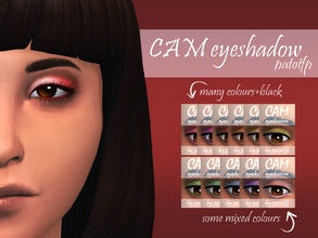Sims 4 — CAM eyeshadow by PatoTFP — A simple eyeshadow matching my CAM lipstick.