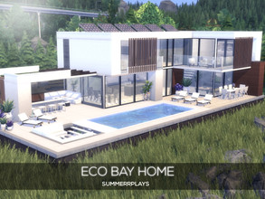 Sims 4 — Eco Bay Home by Summerr_Plays — This modern eco-home is located in the beautiful Brindleton bay. With