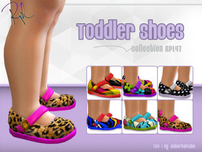 Sims 4 — Toddler Shoes Collection RPL47 by RobertaPLobo — :: 6 swatches :: Toddler Shoes (Female,Flat) :: Base game