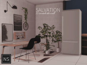 Sims 4 — Networksims - Salvation Tile by networksims — A square-tile wall in 13 colour swatches (1 orange, 1 blue, 1 pink